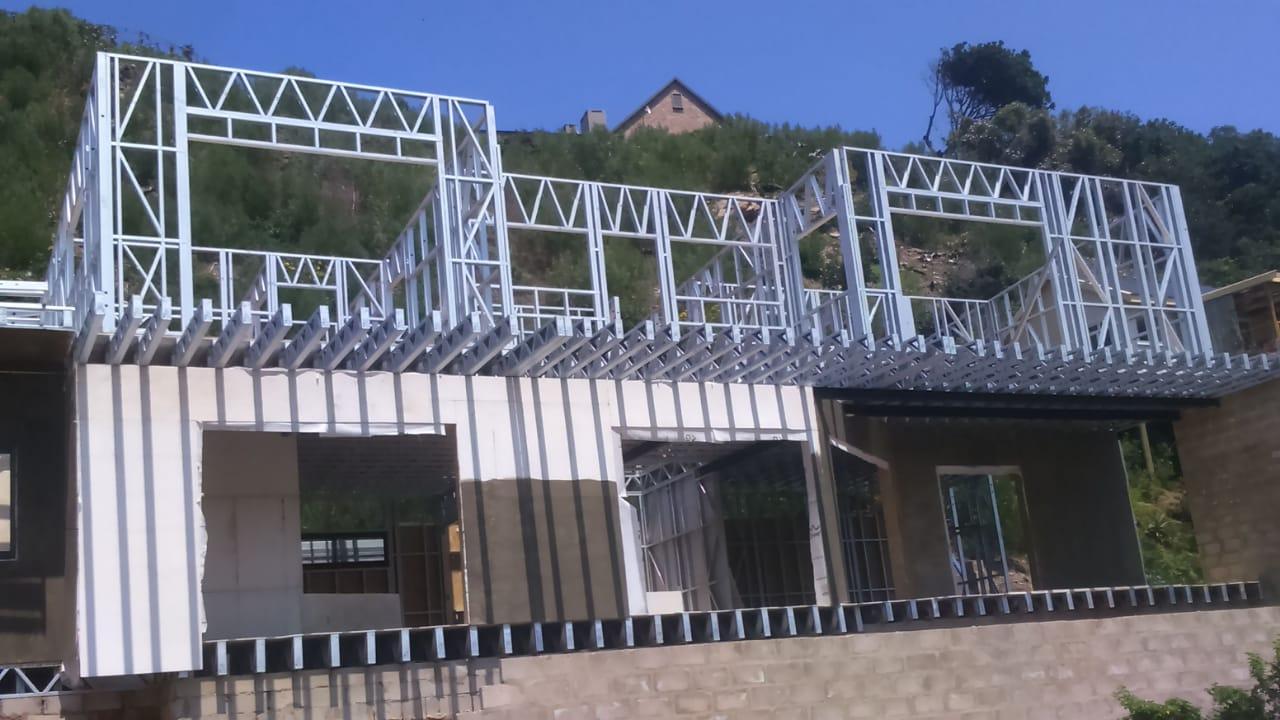 Steel Frame Construction | Steel framing to 2nd floor