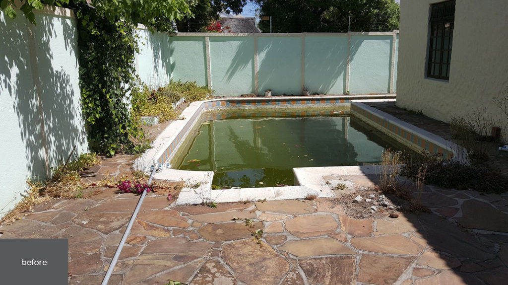 Project | No 45 Claremont Pool Area Before